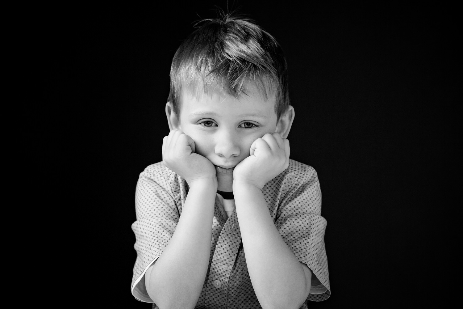 toddler photographed inside a professional studio in Calgary