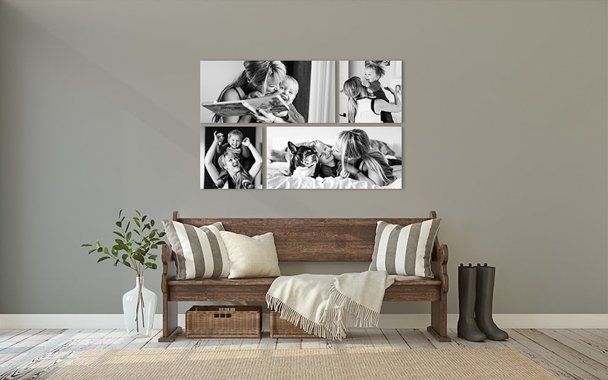 Wall Art of Toddler and Mom Playing Photographed By Calgary Family Photographers